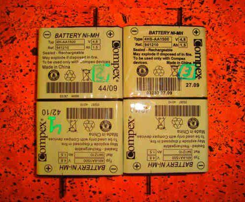 Baterías Electroestimulador