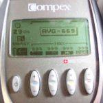 Electroestimuladores Compex y media de trabajo: AVG