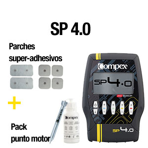 Compex SP4+parches-super