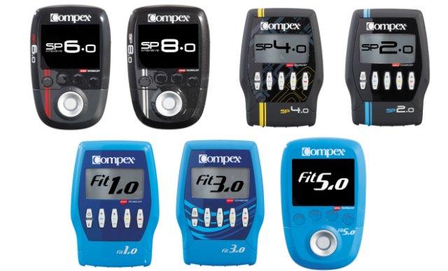 compex fit 1.0, 3.0, 5.0 y compex SP 2.0, 4.0, 6.0 y 8.0