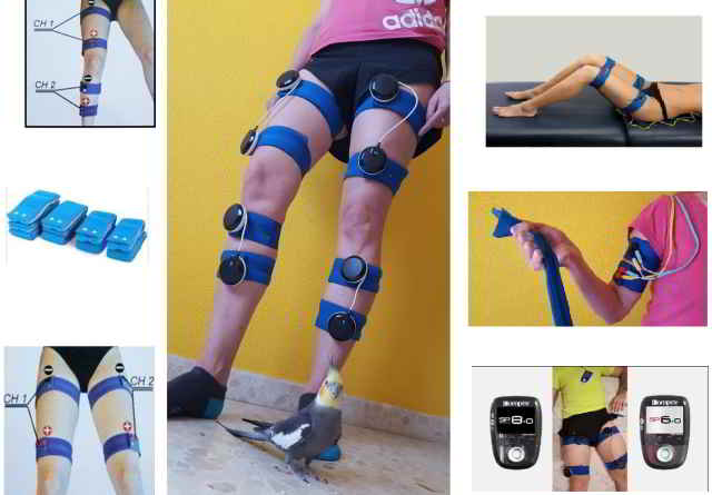 Cintas elasticas electroestimulación  piernas y brazos 4