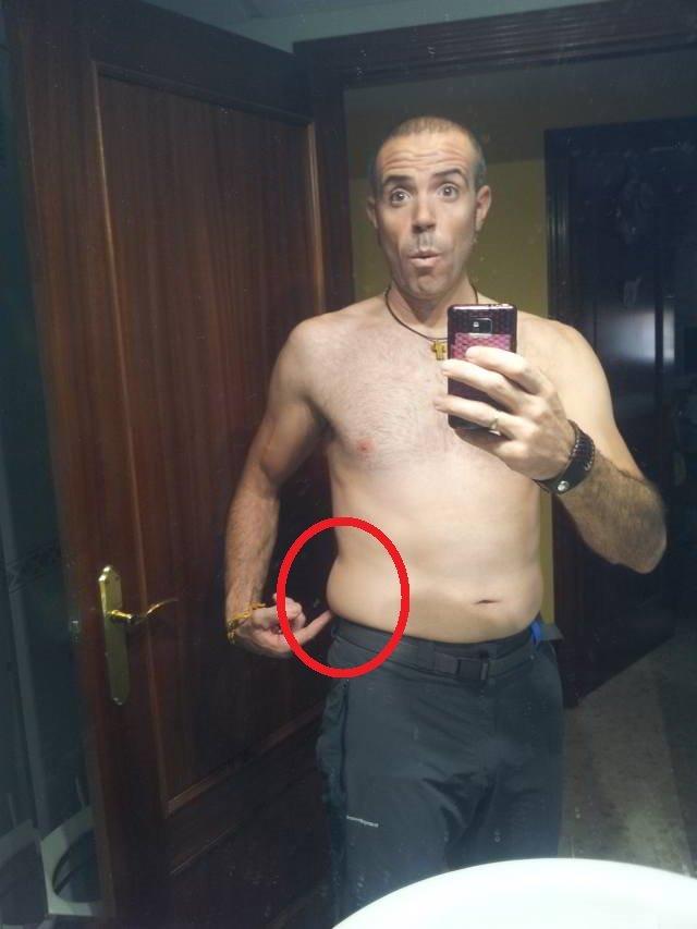 Reto pérdida de grasa abdominal con electroestimulación y la faja quemagrasa (Video 1)