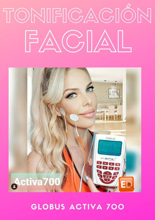 Tonificación músculos de la cara con Activa 700 EMS y microcorriente
