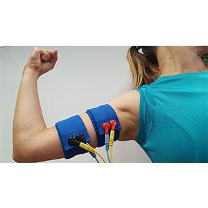 4 bandas conductivas elásticas para gemelos, brazos y antebrazos