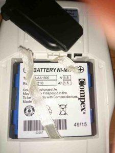 Batería compex. Truco para sacar sin problema