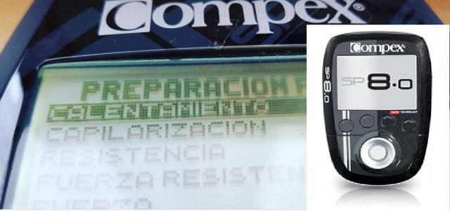 Compex sp 8.0 programa calentamiento sp 8.0