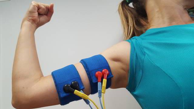 Cintas elasticas de electroestimulacion para brazo y antebrazo