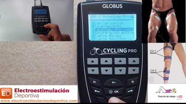 Globus cycling, electroestimulación para ciclismo