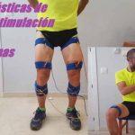 Cintas elásticas de electroestimulación para piernas y brazos