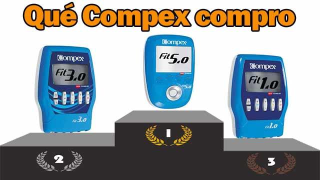 Qué electroestimulador Compex comprar para fitness, Compex fit 5.0 o Compex fit 3.0