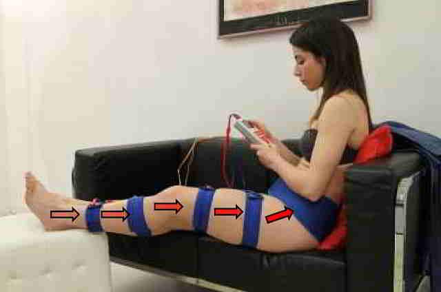 masaje cintas elasticas electroestimulación