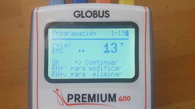 globus premium 400 programable y con microcorriente