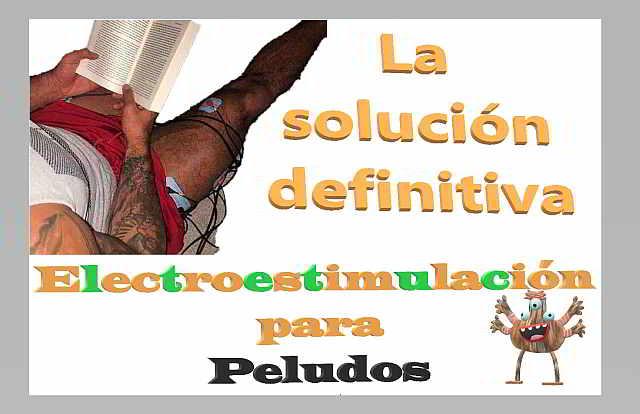 EFlectroestimulacion con pelo sin depilar