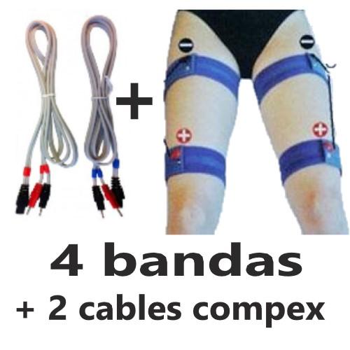 bandas elasticas para piernas con cables para compex