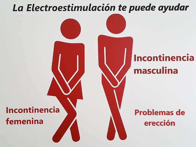 incontinencia, disfuncion erectil y electroestimulación