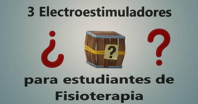 3 Electroestimuladores para estudiantes de fisioterapia