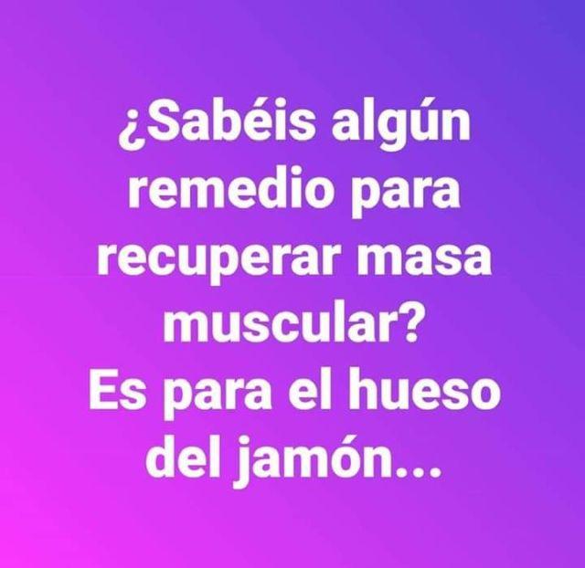 como recuperar la masa muscular de un jamon