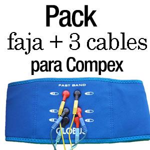 Pack faja + 3 cables para compex