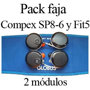 Pack faja 2 modulos para compex wireless