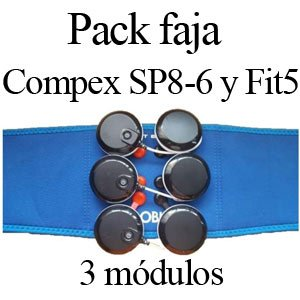 Pack faja para 3 modulos compex wireless