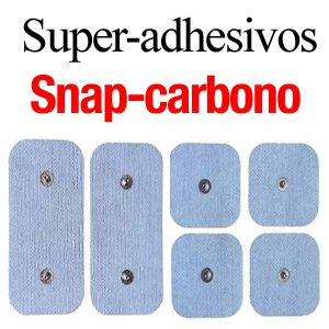 parches super-adhesivos snap carbono
