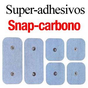 parches super-adhesivos snap carbono
